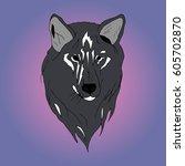 wolf. | Shutterstock .eps vector #605702870