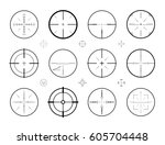 target  sight sniper set of... | Shutterstock .eps vector #605704448