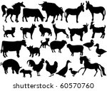 farm animals | Shutterstock .eps vector #60570760