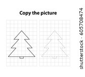 christmas tree  copy the... | Shutterstock .eps vector #605708474