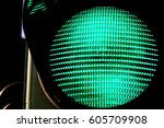 close up view of green color on ... | Shutterstock . vector #605709908