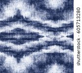 Abstract indigo-dyed effect decorative textured background. Seamless pattern.