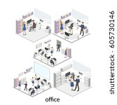 isometric 3d illustration... | Shutterstock . vector #605730146