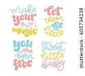 vector kids illustration of... | Shutterstock .eps vector #605734238