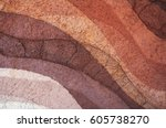 form of soil layers its colour... | Shutterstock . vector #605738270