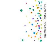 sparse watercolor confetti on... | Shutterstock . vector #605746424