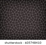 abstract geometric pattern with ... | Shutterstock .eps vector #605748410