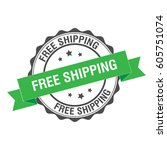 free shipping rubber stamp... | Shutterstock .eps vector #605751074