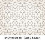 abstract geometric pattern with ... | Shutterstock .eps vector #605753384