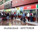 sofia reina airport  tenerife ... | Shutterstock . vector #605753828