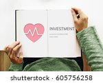 health insurance life accident... | Shutterstock . vector #605756258