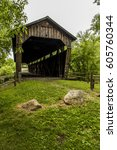 Small photo of A summer view of the historic Kidd's Mill Covered Bridge in Mercer County, Pennsylvania.