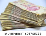 mexican money | Shutterstock . vector #605765198