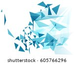 geometric abstract futuristic... | Shutterstock .eps vector #605766296