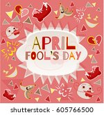 design banner with april fool's ...   Shutterstock .eps vector #605766500