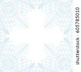 square border frame  abstract... | Shutterstock .eps vector #605785010
