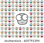 a set of characters. they are... | Shutterstock .eps vector #605791394