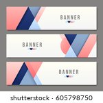 set of banner templates. bright ... | Shutterstock .eps vector #605798750