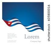 new brochure abstract design... | Shutterstock .eps vector #605800016