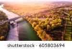 Aerial Shot Of The Bridge Over...