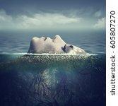 sea soul. abstract marine...
