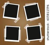 old photo frames.photo frames... | Shutterstock .eps vector #605811596