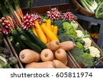 organic food shop in london  uk.... | Shutterstock . vector #605811974