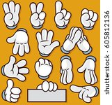 Vector Cartoon Hand Sign....