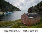 Little Red Hut Along A Rugged...
