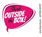 think outside the box retro... | Shutterstock .eps vector #605814059