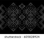 seamless border for design.... | Shutterstock .eps vector #605828924