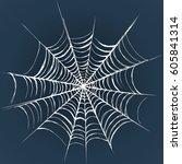 big horrible white web isolated ...   Shutterstock .eps vector #605841314