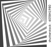 abstract geometric lines vector ... | Shutterstock .eps vector #605841980