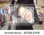 photo of businessman. | Shutterstock . vector #605861498