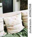 tribal pattern throw pillow   Shutterstock . vector #605862968