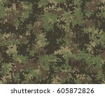 fashionable camouflage pattern  ... | Shutterstock .eps vector #605872826
