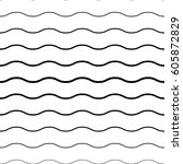 wave gradient pattern. minimal... | Shutterstock .eps vector #605872829