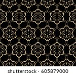 abstract repeat backdrop.... | Shutterstock .eps vector #605879000
