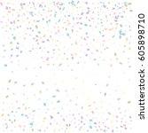 festive colorful rectangle... | Shutterstock .eps vector #605898710