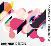 abstract vector raindrop card | Shutterstock .eps vector #605902970