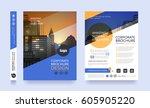 poster flyer pamphlet brochure... | Shutterstock .eps vector #605905220