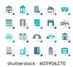 stylized different kinds of... | Shutterstock .eps vector #605906270