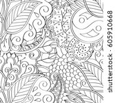 tracery seamless calming... | Shutterstock .eps vector #605910668