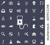 blood donation icon. medicine... | Shutterstock .eps vector #605911148
