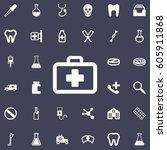 medicine bag vector icon.... | Shutterstock .eps vector #605911868