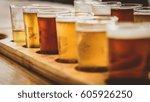 flight of beers | Shutterstock . vector #605926250