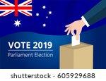 australian democracy political...   Shutterstock .eps vector #605929688