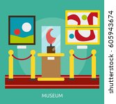 museum conceptual design | Shutterstock .eps vector #605943674