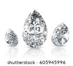 shiny white diamond... | Shutterstock . vector #605945996