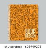 back of school objects on...   Shutterstock .eps vector #605949278